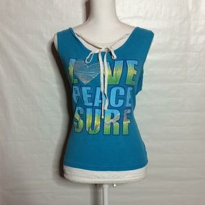 Tops - Love, Peace, Surf Tank Top F1